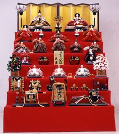 Hina dolls for Hinamatsuri (Girl's Day) - Japan