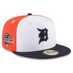 8d4ea99d89c6c Men s Detroit Tigers New Era White Navy 2018 MLB All-Star Game On-Field  59FIFTY Fitted Hat