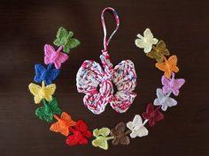 Como hacer preciosas mariposas de colores encadenadas en crochet. - YouTube
