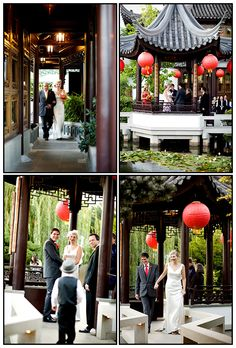 Not my choice, but interesting idea. Lan Su Gardens or Chinese Gardens in downtown Portland, Oregon