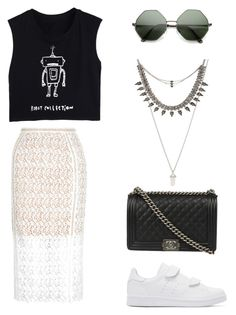 """Untitled #1"" by georgineto-kos on Polyvore featuring New Look, adidas Originals, ALDO and Chanel"