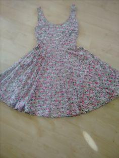 Floral lined skater dress