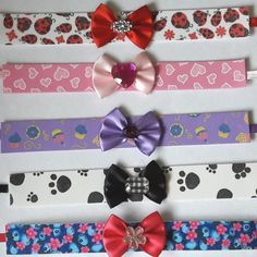 Gargantilha em EVA decorado (10 unidades) - Lacinhos CJ Dog Hair Bows, Pet Fashion, Dog Harness, Pet Shop, Dog Cat, Pets, My Love, Crafts, Accessories