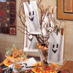 Ghost and Pumpkin Party Favors by Kathryn Perkins, from the Creepy Crafty Halloween eBook
