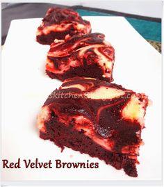 Wu Lan's Kitchen: RED VELVET CHEESE BROWNIES