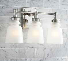 Benchwright Triple Sconce Polished Nickel