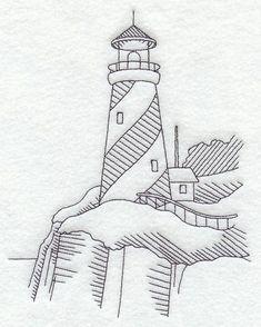 Swirl Stripe Lighthouse