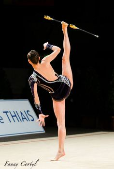 Ganna Rizatdinova (Ukraine) got 18.466 points for clubs at Qualifications, Olympic Games 2016