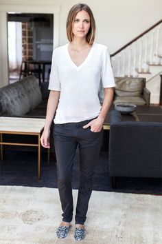 Luxe Emerson T - Ivory   Emerson Fry: the perfect tee???