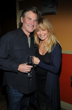Kurt Russell and Goldie Hawn I love that they never married but are undeniably happy
