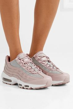 new product bedb6 f1202 Nike - Air Max 95 glittered leather and suede sneakers