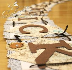 Cabio's Craft Corner: Handmade DIY Wedding Banner + Bird Cage Tea Light
