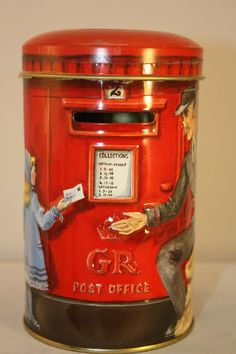 collectible tin and bank Mail Post Box by Churchill's Heritage of England #ChurchillHeritage