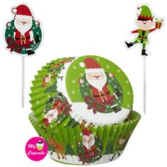 Santa and Elves Christmas Cupcake Combo Pack Very Merry Christmas, Christmas Elf, Christmas Bulbs, Wilton Cake Decorating, Cake Decorating Tools, Baking Supply Store, Decoration Vitrine, Wilton Cakes, Christmas Cupcakes