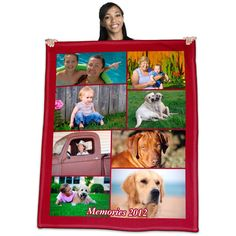 Our famous photo collage blankets.