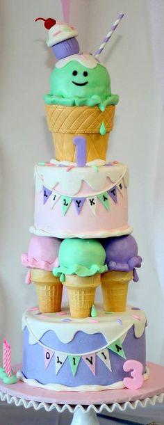 Ice cream Themed Cake