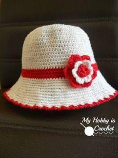 Toddler Cotton Sun Hat - Free Crochet Pattern   My Hobby is Crochet