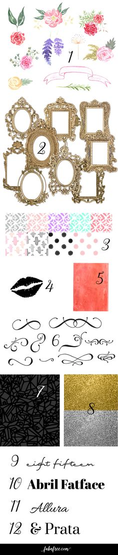 Free Digital Graphics, Frames, Clip Art, Fonts, Backgrounds, and Textures
