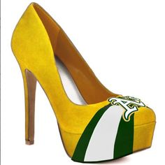 Oakland Athletics High Heels... Yowzas these are hot