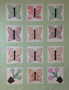 Vintage Butterflies Quilt Blocks Repurposed into by Patalier, $235.00