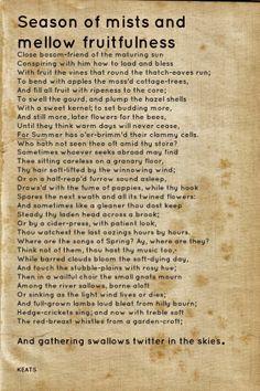 to autumn john keats pdf