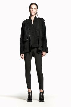 alexander wang pre-fall 2011: the perfect suede oversized biker jacket