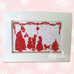 The Trumpet Framed Christmas Silhouette by LilyOake, on ETSY, for $10.00 + shipping