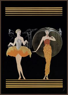 Art Deco and Art Nouveau! Arte Art Deco, Art Deco Artists, Estilo Art Deco, Art And Illustration, Art Nouveau, Erte Art, Street Art, Inspiration Art, Art Deco Posters