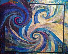 Whirlpool Joy  A very unique quilt----one of many that were displayed at the annual Heritage Park Festival of Quilts