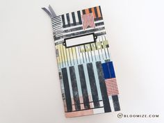 Stripes and lines handmade journal @ bloomize.com