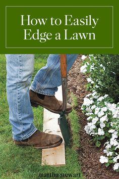 An Easy Way to Edge a Lawn – Grass edging Grass edging, Garden edging, Landscaping tips, Lawn, Lawn Wood Garden Edging, Grass Edging, Lawn Edging, Lawn & Garden, Small Garden Edging Ideas, Wood Landscape Edging, Garden Ideas, Brick Edging, Unique Garden