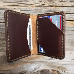 Seagull bi-fold brown Chromexcel wallet by BenjaminBottDesign