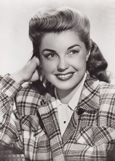Esther Williams in plaid jacket 1940s
