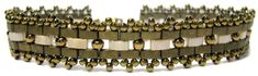 Deb Roberti's Mosaic Bands Bracelet Pattern - Red Panda Beads Gallery