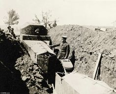 In January 1916, after huge losses on both sides, the Allies successfully  evacuated their soldiers without further casualties.Today, soldiers from both the Ottoman and Allied sides lie close together in separate cemeteries on the Gallipoli peninsula. Pictured, an armoured Rolls Royce
