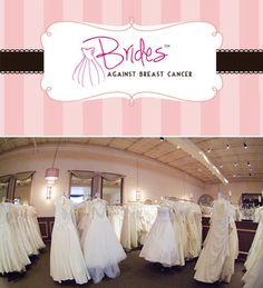 Brides Against Breast Cancer! An amazing charity that allows you to donate your wedding dress to help others in need.  http://www.bridesagainstbreastcancer.org/