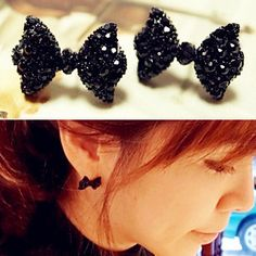 New hot Fashion Simple Vintage Metal Black Butterfly Bow stud earrings lady ear jewelry 2015 for women Free shipping♦️ SMS - F A S H I O N 💢👉🏿 http://www.sms.hr/products/new-hot-fashion-simple-vintage-metal-black-butterfly-bow-stud-earrings-lady-ear-jewelry-2015-for-women-free-shipping/ US $0.23