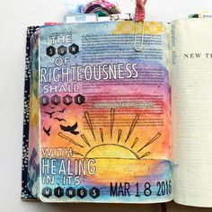 Bible journaling, Malachi 4:2 — Arden Ratcliff-Mann