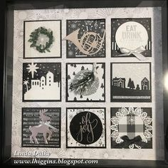 Linda Dalke: 2017 Christmas Sampler Speciality Class - Come and make an awesome Christmas Project! Christmas Shadow Boxes, Christmas Frames, Christmas Projects, Christmas Ideas, Christmas Lights, Holiday Crafts, Collage Frames, Collages, 3d Paper Crafts