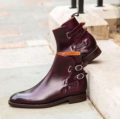 Handmade jodhpurs style boots, double monk strap buckle boots, brown dress boots… – Vincentlopez – Join in the world of pin Brown Dress Boots, Dress With Boots, Dress Shoes, Dress Clothes, High Ankle Boots, Shoe Boots, Leather Men, Leather Boots, Soft Leather