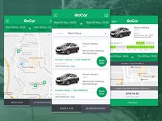 Gocar App designed by TJ Tan. Connect with them on Dribbble; Nissan Almera, Material Design, App Design, Application Design