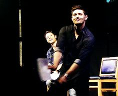 castielsentrance.gif Photo:  This Photo was uploaded by Amberdreams1960. Find other castielsentrance.gif pictures and photos or upload your own with Phot... Jensen Dancing!
