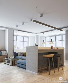 2 Modern Apartments Under 1200 Square Feet Area For Young Families (Includes 3D Floor Plans)
