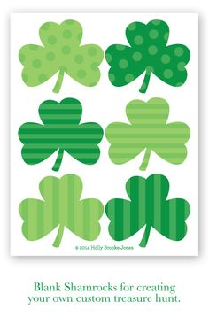 St. Patrick's Day free printable shamrocks