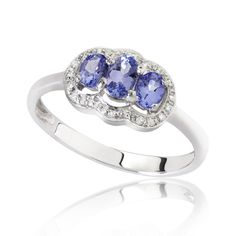 Buy 18 Kt White gold blue sapphire #engagement #ring center sapphire in just $1,999 Only!