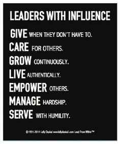 Leaders with influence...