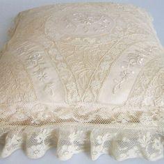 Antique Normandy Lace Boudoir Pillow