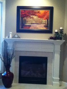 Beautiful fireplace decoration