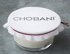 Chobani yoghurt - white muslin - homage to the creation process of the product