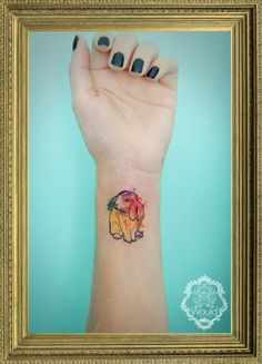 Bunny watercolor tattoo